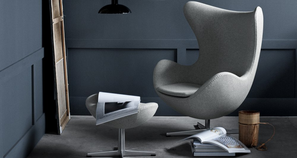 Egg Chair Stof.Product In The Picture Egg Chair By Arne Jacobsen Abitare